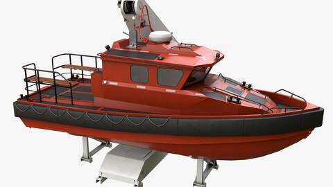 Ship Davit With Motorboat