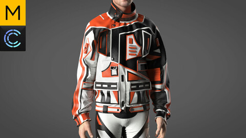 Motocross clothes male & female. Marvelous Designer, Clo3d project + OBJ files. Standart avatar male&female MD&CLO.