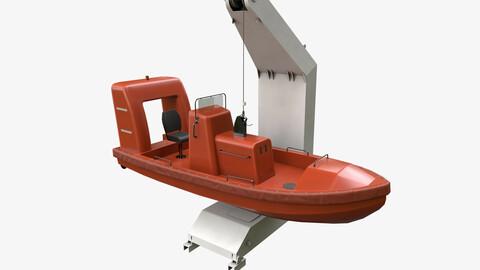 Ship Davit With Motorboat 2