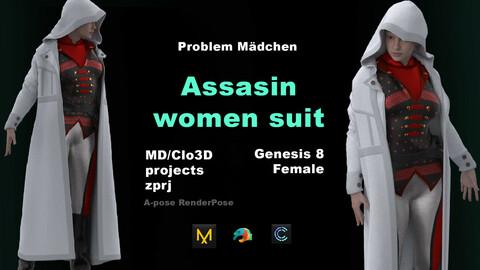 ASSASIN WOMEN SUIT/MD CLO3D projects + Daz Studio Avatar