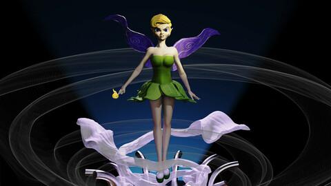 Tinker Bell 3D print Model