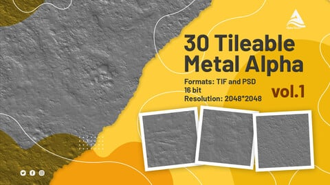 30 Tileable Metal Alpha (vol.1)