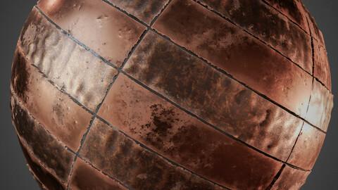 PBR Copper Plates 4K Material