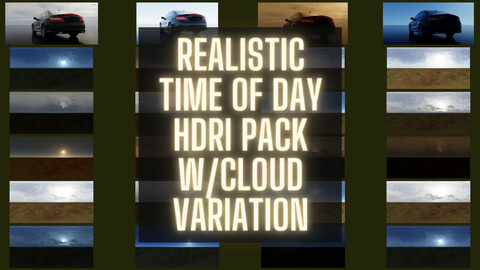 HDRI Realistic Time of Day Pack 4K  with 20 maps (-60%  Exclusive Sale)