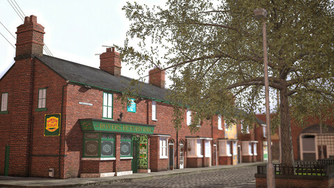 3d Realstic Environment (coronation street manchester united)