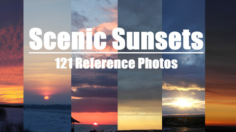 Scenic Sunsets 121 Reference Pictures