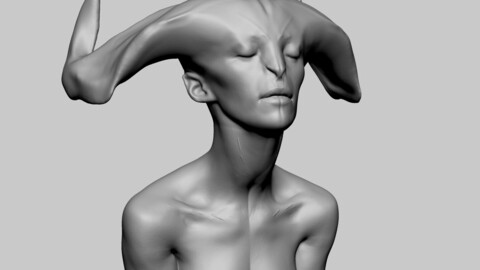Female Creature Head 03