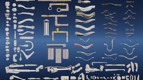 Sci-fi KitBash 3D model