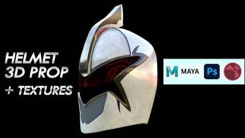 Maya 3D Helmet Prop - Project & Textures
