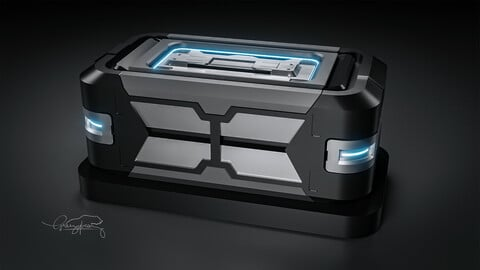 FREE SCI FI CRATE for Blender