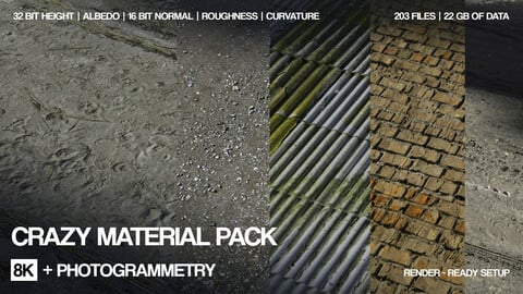 35 * 8K   Material pack | 16 and 32 bit |  Crazy sharpness