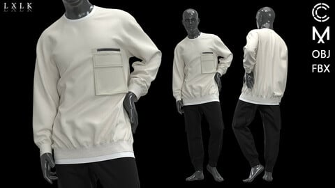 Pocket Sweatshirt With Jogger Outfit