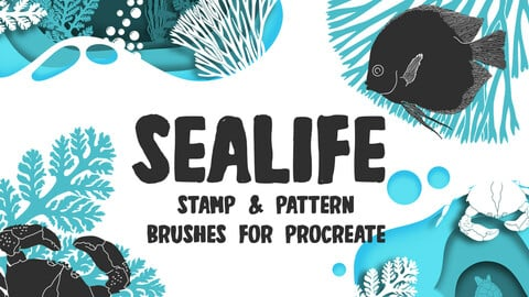 Sealife Procreate Pattern Brushes and Stamps