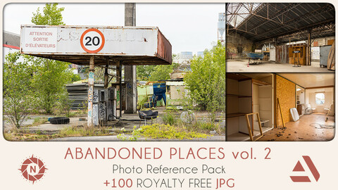Photo Reference Pack: Abandoned Places volume 2