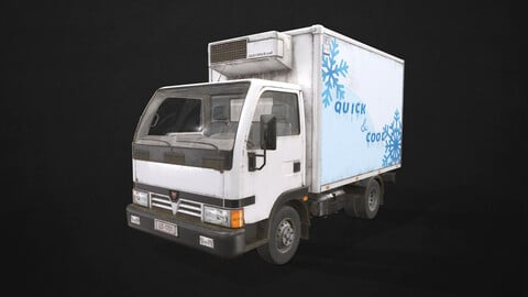 Light Truck Refrigerated - Low Poly