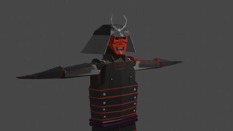 Low Poly Samurai