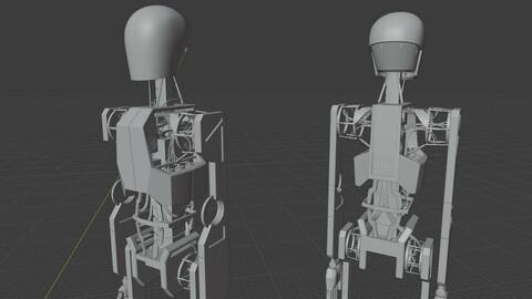"""Stickers"" Robot Model - Untextured Base"