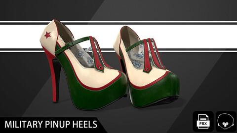 Military Pinup Heels