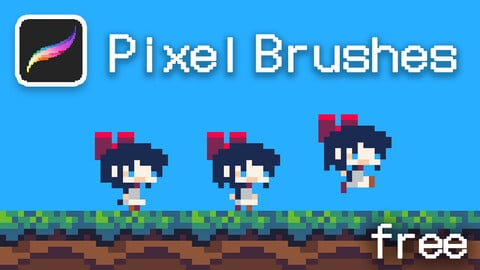 Pixel art Brushes for Procreate