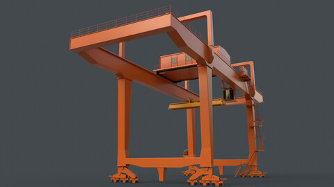PBR Rail Mounted Gantry Crane RMG V1 - Orange
