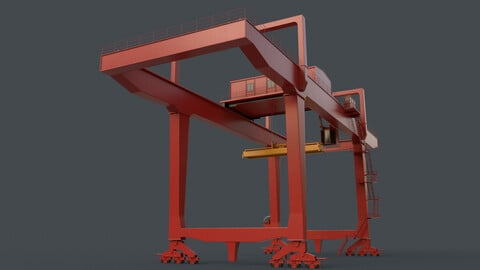 PBR Rail Mounted Gantry Crane RMG V1 - Red