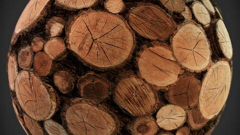 PBR - tree forest trunks  STOVE / FELLED  - 4K  MATERIAL