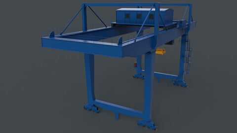 PBR Rail Mounted Gantry Crane RMG V2 - Blue