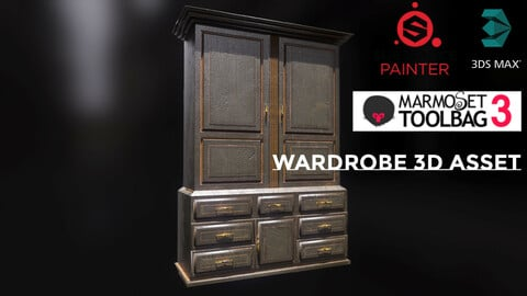 Wardrobe 3D Asset