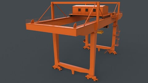 PBR Rail Mounted Gantry Crane RMG V2 - Orange