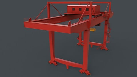 PBR Rail Mounted Gantry Crane RMG V2 - Red