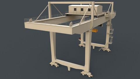PBR Rail Mounted Gantry Crane RMG V2 - White
