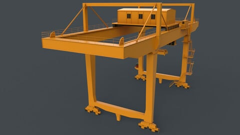 PBR Rail Mounted Gantry Crane RMG V2 - Yellow Dark