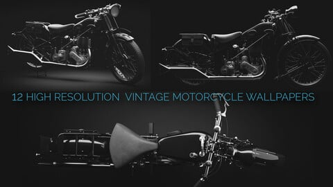 12 High resolution vintage motorcycle wallapaper pack