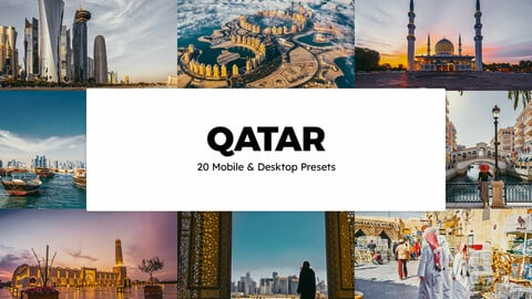 20 Qatar LUTs and Lightroom Presets