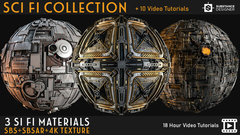 3 sci fi Materials + Tutorials