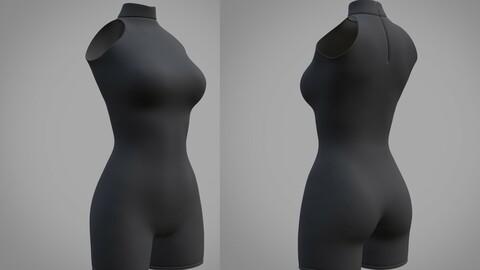 Female bodysuit - 3D model