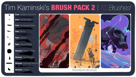 Brush Pack 2: Tim Kaminski's Procreate Brushes