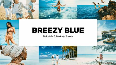 20 Breezy Blue LUTs and Lightroom Presets