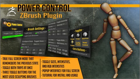Power Control ZBrush Plugin