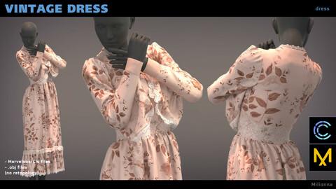 Vintage dress - Marvelous/Clo 3D (.obj)