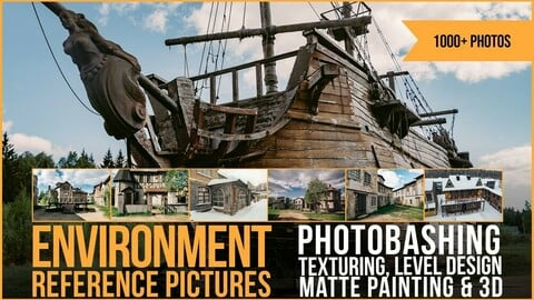 1000+ Environment Reference Pictures for photobashing, matte painting, level design, texturing and 3D