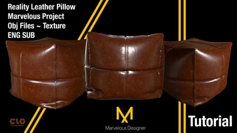 Marvelous Designer Beginner ~ Advanced Tutorial / Reality Leather Pillow - Bonus Star Pillow