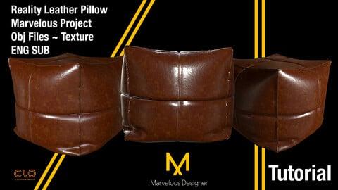 Marvelous Designer Beginner ~ Advanced Tutorial / Reality Leather Pillow - Bonus Star Pillow