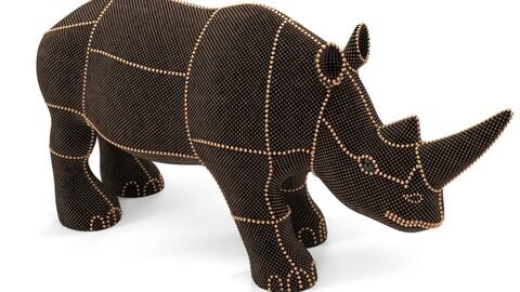 Pearl Rhino decoration statue