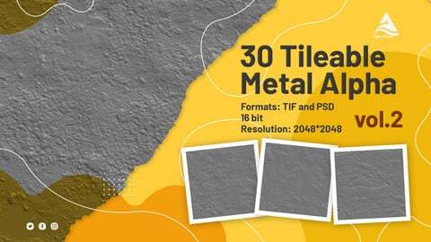 30 Tileable Metal Alpha (vol.2)