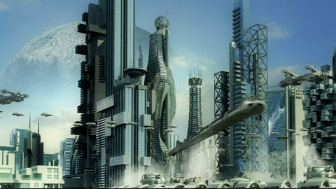 Futuristic City 3. (HD)