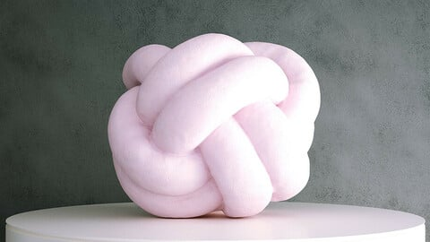 Cushion Fabric Knot [3d Scan Model: Cushions / Homewares / Soft Furnishings]