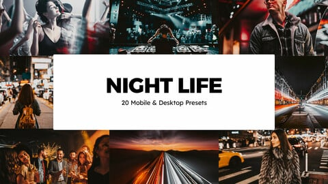 20 Night Life LUTs and Lightroom Presets