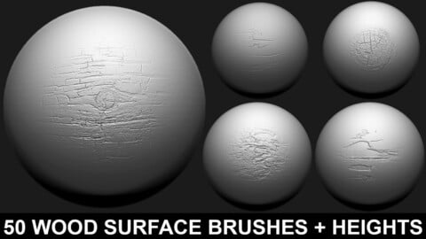 ZBrush - Wood surface Brushes