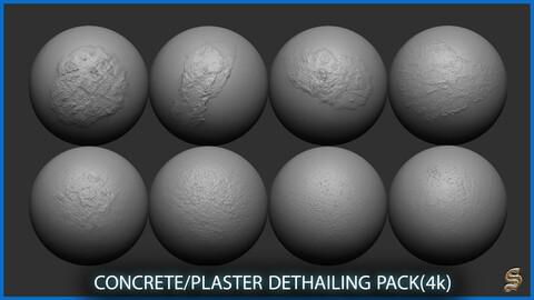 CONCRETE/PLASTER DETHAILING PACK (4K)